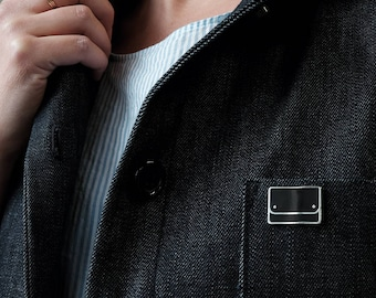 Black FINN Enamel Pin