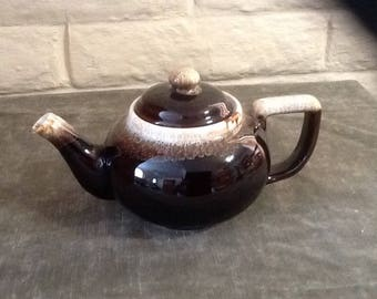 Vintage Brown Ceramic Teapot
