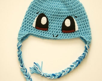 Squirtle Crochet Hat | Squirtle Costume Hat | Pokemon Winter Beanie