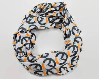 Over Watch Infinity Scarf - Soft Jersey Knit Overwatch Infinity Scarf - Handmade Cozy Stretchy Scarf - Video Game Gift - Gamer Gift