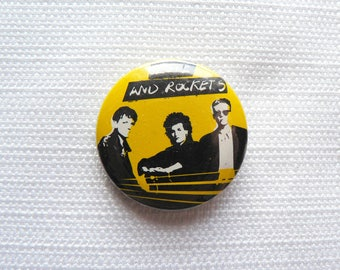 Vintage 1980s Love and Rockets Pin / Button / Badge
