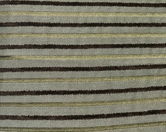 Blue - Green - Brown Upholstery Fabric By The Yard