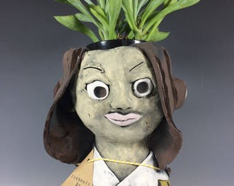 Amber Pothead // Succulent Pot // Succulent Planter // People Pothead // Ceramics // Pottery