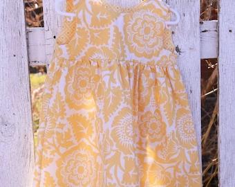 SALE! Yellow Floral Toddler Dress - 2T - Joel Dewberry