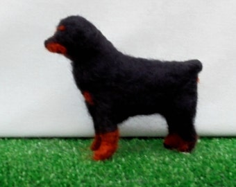 ROTTWEILER  Dog.Needle Felting., Custom markings. No extra charge. Needle felted from photographs.Unique Gift /Memorial