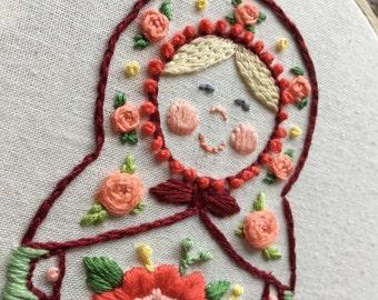 """Embroidery hoop """"Matryoshka"""""""