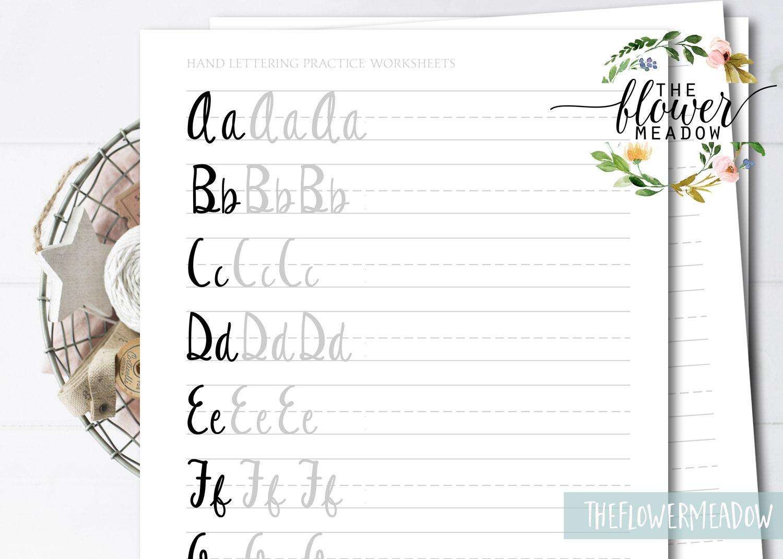 Funny beginner s guide modern calligraphy worksheet