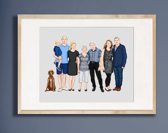 Custom Family Portrait up to 8 people