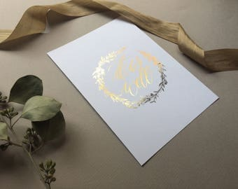 """Gold foil """"It is well"""" print"""