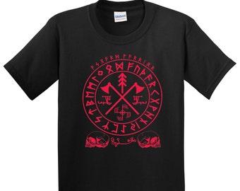 Asgard Warriors T-shirt, ottastafur, Norse, Viking, ginfaxi