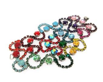 Multi-Coloured Swarovski Rainbow Crystal Bracelet by Frangos