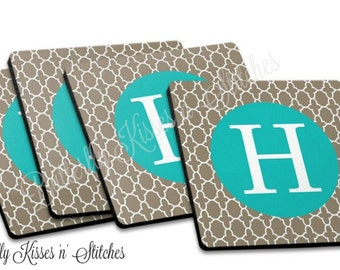 Coasters/Moroccan/Drink ware Coasters/Personalized/Monogrammed/