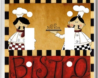 Fat Chef Bistro Light Switch Cover Plate  k1 Kitchen Home Decor  Free Shipping in U.S.!!!