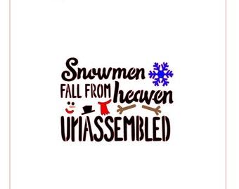Snowmen Fall From Heaven Unassembled Stencil