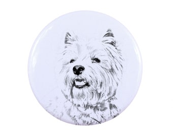 Ring with a dog - West Highland White Terrier