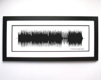 The Way I Tend To Be - Frank Turner - Sound Wave Wall Art Print Design