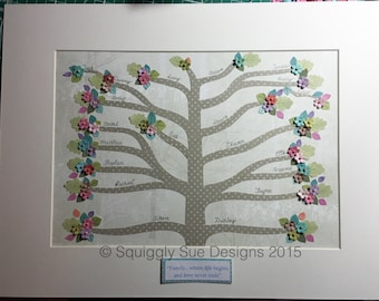 Personalised Family Tree Picture 8+ names