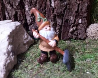 Gnome Statue,Mini Garden decor, Fairy doors, for fairy gardens
