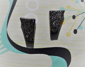 Confetti Lucite Style Earrings,50s Lucite Inspired Earrings,Rockabilly Earrings,50s Pin Up,Mid Century Modern,Novelty Earrings,1950s Style