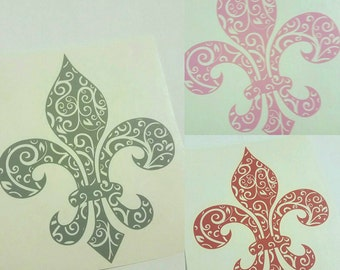 Fleur de Lis, fleur de lis car decal, fleur de lis decal, New Orleans decal, New Orleans car decal,car decal, Mardi Gras Decal,
