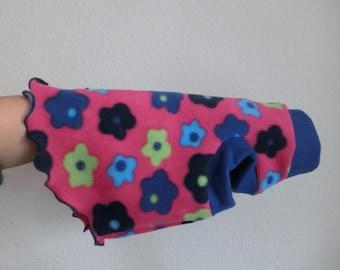 sizes FLOWERS soft fleece top for a Sphynx cat Katzenbekleidung, sphynx cat clothes, HOTSPHYNX