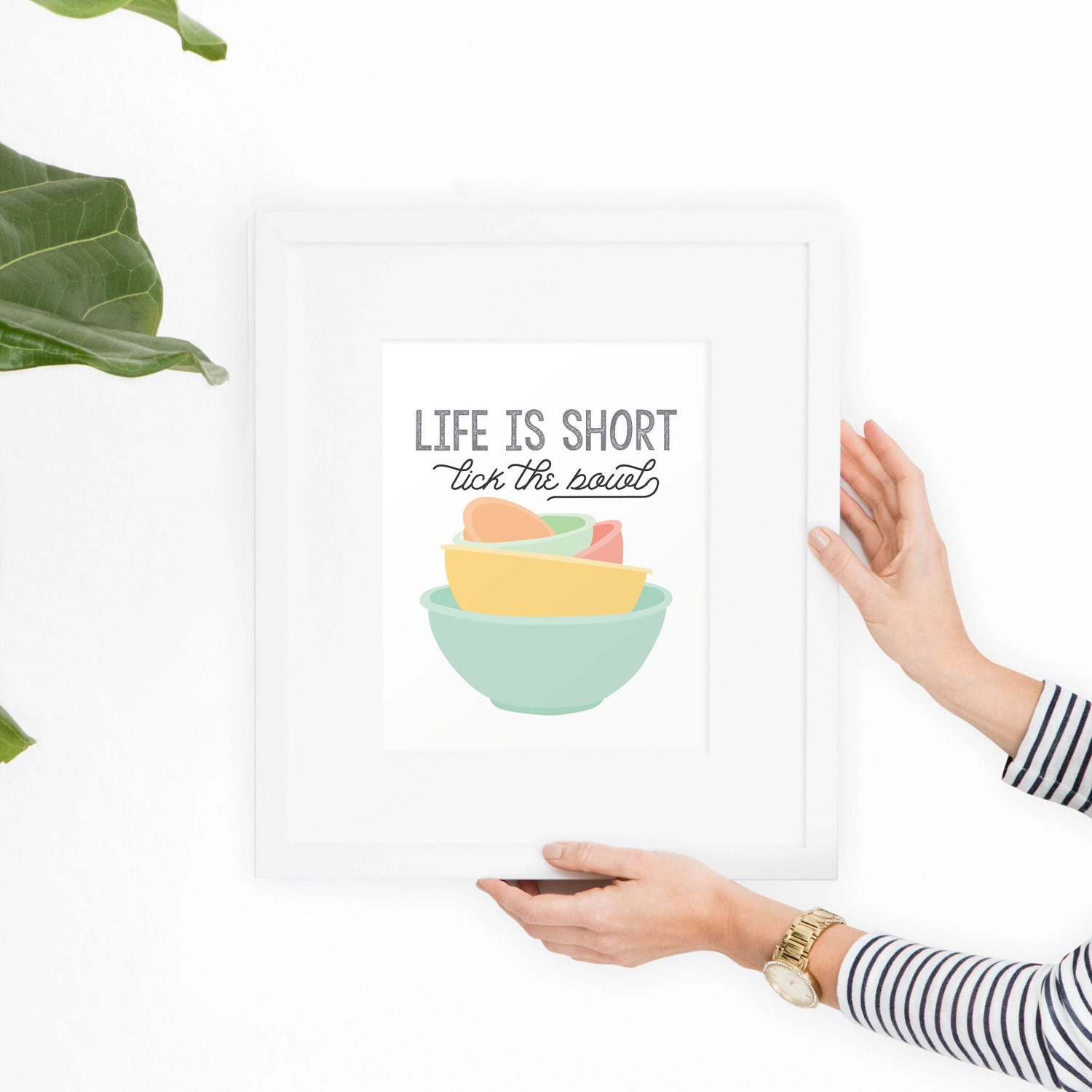 Spark Of Life Kitchen: Kitchen Art Printable Art Life Is Short Lick The Bowl Mixing
