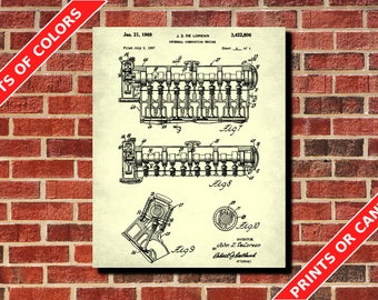 Car Engine Patent Print Car Poster Car Print Mechanic Gift Man Cave Poster