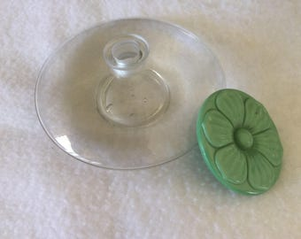 Rafty perfume bottle with glass flower top