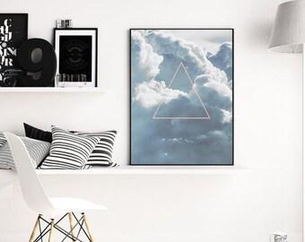 Minimalist poster, Nature prints, Geometric wall art print, Large wall art printable, Geometric print, Minimalist print, Geometric print