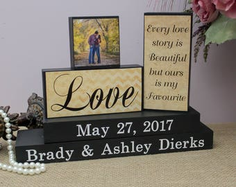 Personalized Wedding Gift, Every Love Story Is Beautiful, Bridal Shower Gift, Wedding Wood Sign, Anniversary Gift, Bride and Groom Gift