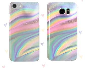 Cas de téléphone Northern Lights iPhone, Samsung - housse d'été, Pastels, Aurora Borealis