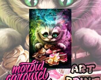 Alice in Wonderland Cheshire Cat A4 Giclee Art Print