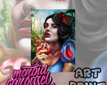 Snow White Poison Apple Large A1 Poster Art Print Giclee