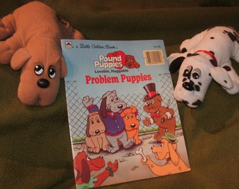 POUND PUPPIES...Storybook PLUS 2 Pound Puppy Dogs ~ Read and Play Fun!