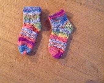 Baby socks hand knit
