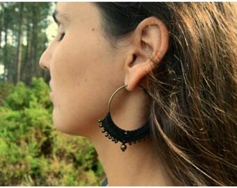 Macrame earrings Tribal earrings Tribal jewelry