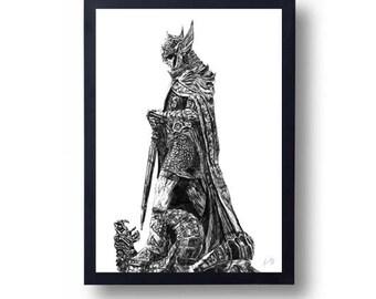 The Elder Scrolls, Skyrim, Talos Poster Print