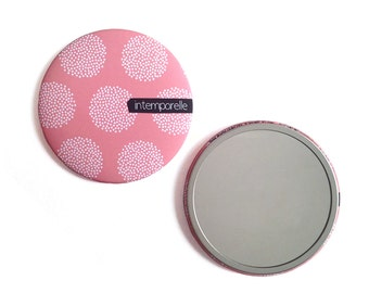 'Timeless' round Pocket mirror / Pocket mirror 'timeless' - creation of Ginger in may