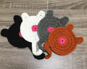 Cat Butt Coasters- includes 4 coasters