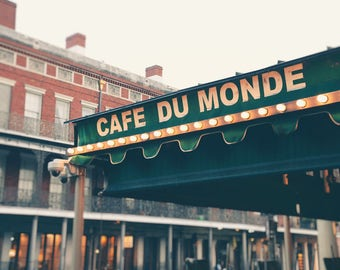 Cafe Du Monde, New Orleans Photography, Cafe, Coffee Shop, Beignets, NOLA, Jackson Square, French Market, Travel Decor, Wall Art