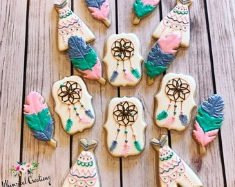Tribal Princess Cookies / Dream Catcher Cookies / Teepee Cookies