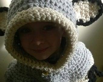 Crochet Hoodie , crochet hood, great for winter, gift