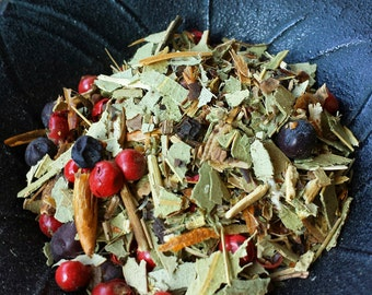 Shield Maiden Herbal Mix, Psychic Protection Herb Mix, Witchcraft, Wicca, Witch, Apothecary, Herbs for Witches, Occult Supplies,Hand Blended