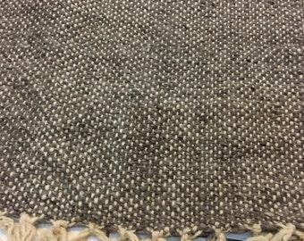 Hand loomed Moroccan wool blanket