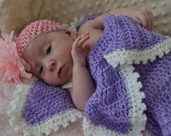 Purple Flower Infant Cocoon