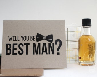 Will you be my Best Man? - best man - best man card - be my best man - best man invitation - best man proposal - wedding card - you be my