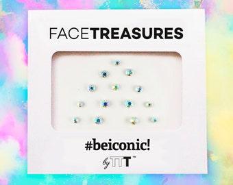 Hologram set - Face gems stick Bindi dots Jewels Bindi Dots Bindis Beauty Body Art Accessories Festival Birthday Gift For Her