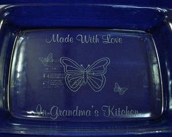 Gift For Mom ~ Butterfly Gift ~ Engraved Baking Pan ~ Engraved Gift ~ Gift For Step Mom ~ Mothers Day Gift ~ Birthday Gift Mom ~ Mom Gift ~