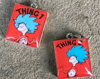 Thing 1 and Thing 2 Jewelry, Dr. Seuss Jewelry, Cat in the Hat Jewelry