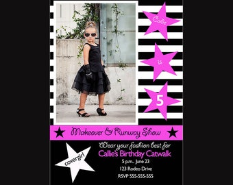 Fashion Show Birthday Invitation {Instant Download}